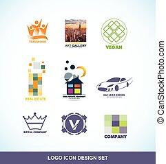 logo, vastgesteld ontwerp, pictogram