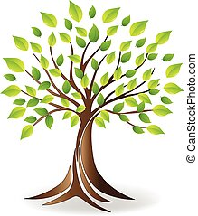 logo, vecteur, écologie, arbre
