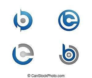 logo, vecteur, b, lettre, gabarit