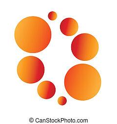logo, vecteur, balles