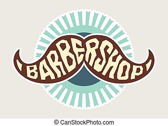 logo, vecteur, coiffeur