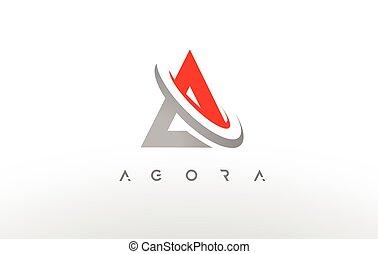 logo., vecteur, conception, lettre