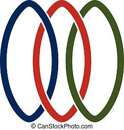 logo, vecteur, conception, réseau, gabarit