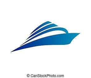 logo, vecteur, croisière