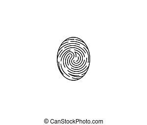logo, vecteur, empreinte doigt