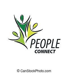 logo, vecteur, gens