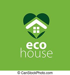 logo, vecteur, maison