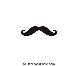 logo, vecteur, moustache, gabarit