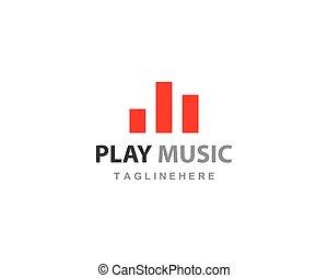 logo, vecteur, musique