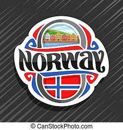 logo, vecteur, norvège