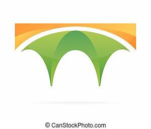 logo, vecteur, pont
