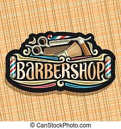logo, vecteur, salon coiffure