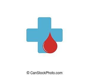 logo, vecteur, sanguine, gabarit, icône