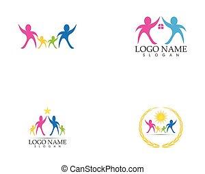 logo, vecteur, services médicaux, famille