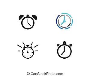 logo, vecteur, temps