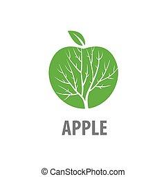 logo, vector, appel