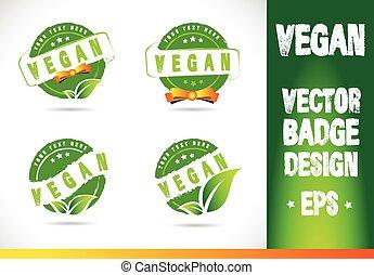 logo, vector, badge, vegan