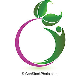 logo, vector, gezondheid, natuur