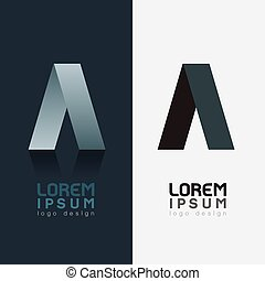Logo vector mega collection, abstract geometric business icon set on black and white background