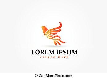 logo, vector, ontwerp, vogel