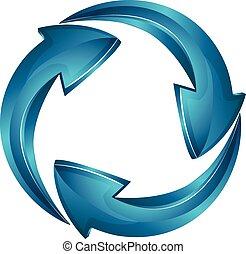 logo, vector, pijl, zakelijk