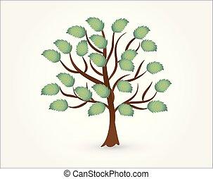 Logo vector tree ecology symbol icon