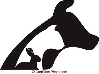 logo, veeartsenijkundig, dog, konijn