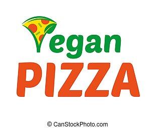 logo, vegan, pizza