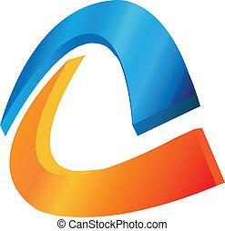 logo, vektor, abstrakt