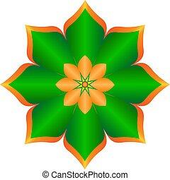 logo, vektor, blomst, abstrakt