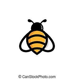 logo, vektor, dyr, skabelon, bi