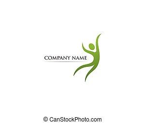 logo, vektor, hälsa, mall, omsorg