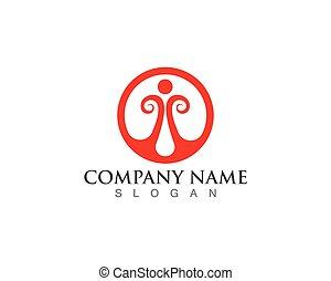 logo, vektor, hälsa varsamhet