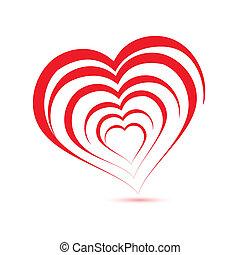 logo, vektor, hjärta