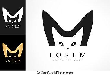 logo, vektor, katz