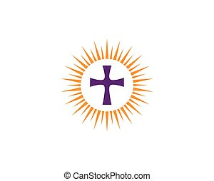 logo, vektor, kyrka