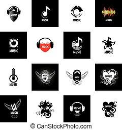 logo, vektor, musik