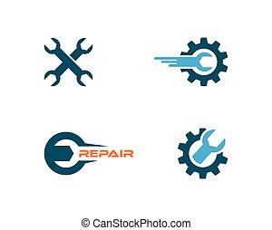 logo, vektor, reparatur, auto