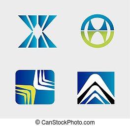 logo, vektor, sæt