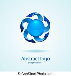 logo., vektor, tervezés, element.