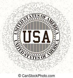 logo, vektor, usa, bestand