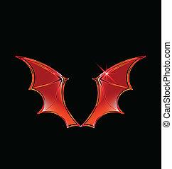 logo, vektor, vampir, flügeln