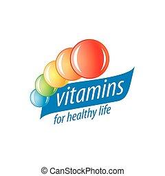logo, vektor, vitamine