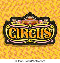 logo, vektor, zirkus, nacht