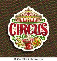 logo, vektor, zirkus