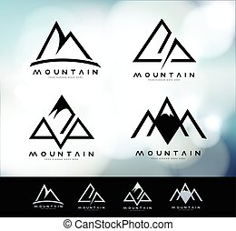 logo, vendange, montagne