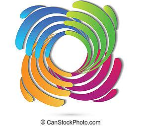 logo, verbinding, handel hands