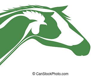 logo, veterinär, grön