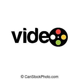 logo, vidéo, conception