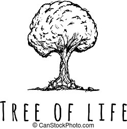 logo, vie, vecteur, arbre